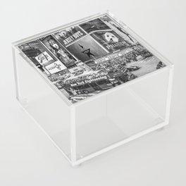 Times Square II (B&W widescreen) Acrylic Box