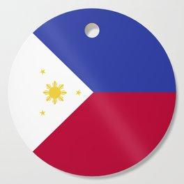 Philippines flag emblem Cutting Board