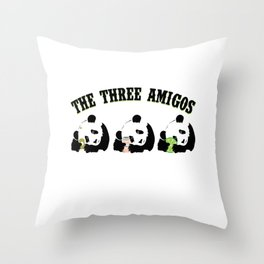 The Three Amigos Pandas With Tequila Salt Lime Funny Design Gift Throw Pillow