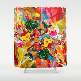 Kaleidoscope Plexi-glass Shower Curtain