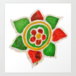Indian Street Flower Art Print