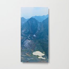 View from the summit of Pyramid Mountain in Japser National Park, Canada Metal Print