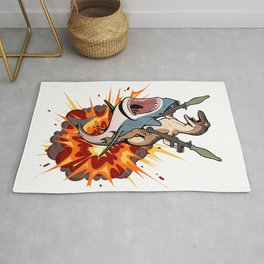 Raptor Shark (Standard Version) Rug
