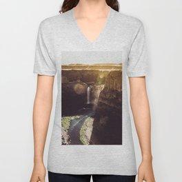 Desert Waterfall Unisex V-Neck