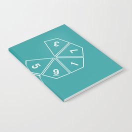 Teal Unrolled D10 Notebook