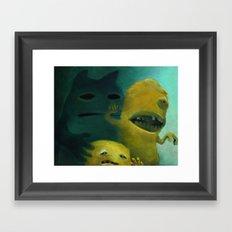 Ghost Bunny & Bros Framed Art Print