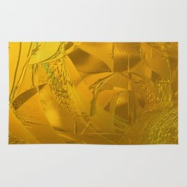 Golden  Abstract Rug