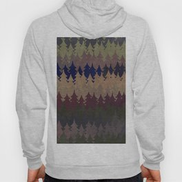 The secret forest at late afternoon - Dark tree pattern Hoody