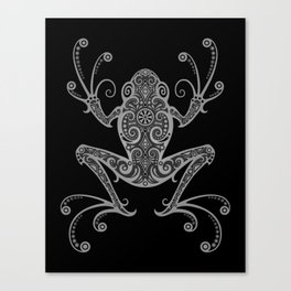Intricate Dark Tree Frog Canvas Print