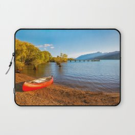 Glenorchy Wharf and pier at golden hour in New Zealand Laptop Sleeve