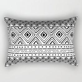African Mud Cloth Rectangular Pillow