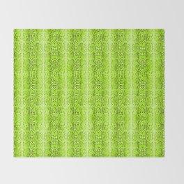 Green Snake Skin Animal print Wild Nature Throw Blanket