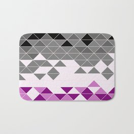 Geometric Asexual Flag Pattern Bath Mat
