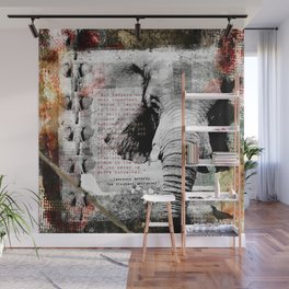 Of Elephants and Men Wall Mural