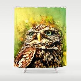 owl portrait 5 wsstd Shower Curtain