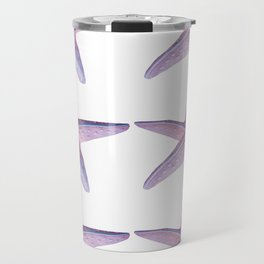 Pink Sea Stars in Six by Aloha Kea Photography Travel Mug