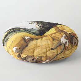 The Harvesters Painting by Pieter Bruegel the Elder Floor Pillow