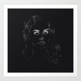Negative Lana Art Print
