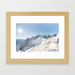 Monte Bianco / Mont Blanc mountain's beauty Framed Art Print
