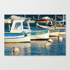 French boats 6971 Canvas Print