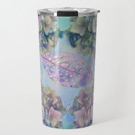 Watercolor hydrangeas and leaves Travel Mug