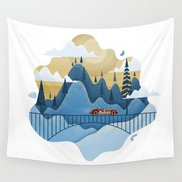 Mountain Race Wall Tapestry