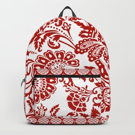 Damask in red Backpack