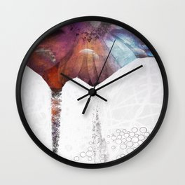 Lunar Flowering  Wall Clock