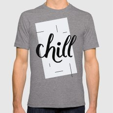 Chill Mens Fitted Tee Tri-Grey SMALL