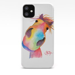 Happy Horse ' GoRGEOUS GWiNNY ' By Shirley MacArthur iPhone Case