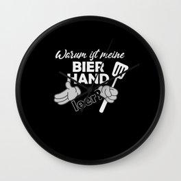 Warum ist meine Bierhand leer? - Grill Party Wall Clock