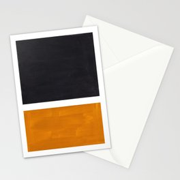 Black Yellow Ochre Rothko Minimalist Mid Century Abstract Color Field Squares Stationery Cards