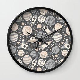 Space Black & White Wall Clock