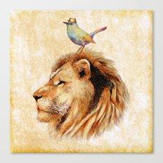 Lion&Bird Canvas Print