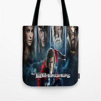 thor Tote Bags featuring Thor by store2u