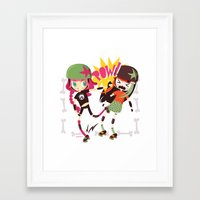 roller derby Framed Art Prints featuring It's Roller Derby, sweetie! by Irene Dose