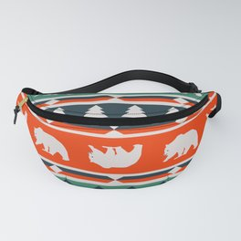 Winter bears and trees Fanny Pack