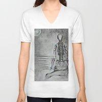 swim V-neck T-shirts featuring swim by Maithili Jha
