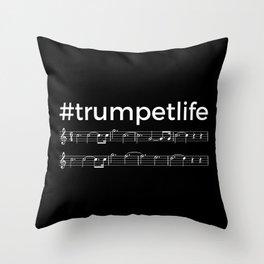#trumpetlife (dark colors) Throw Pillow