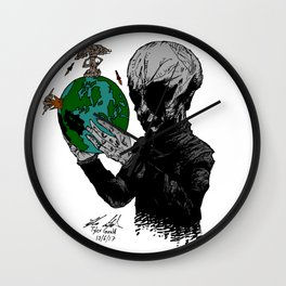 Aril Observers Our Planet Wall Clock