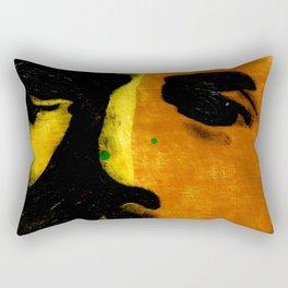 Face in Fall (the bearded man) Rectangular Pillow