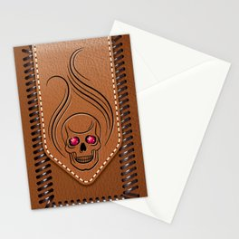 Hot Head Leather Stationery Cards