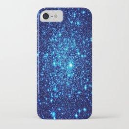 Vivid Blue gALaxY Stars iPhone Case