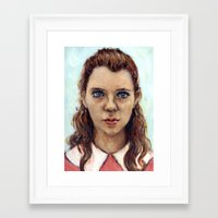 karu kara Framed Art Prints featuring Suzy - Moonrise Kingdom - Kara Hayward by Heather Buchanan