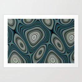 Fordite Lava Frax 2557 Art Print
