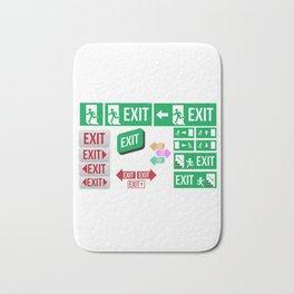 Evacuation Day Exit Signs Bath Mat