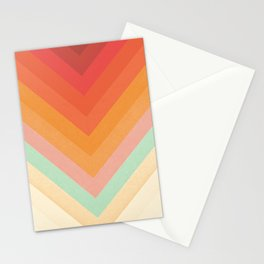Rainbow Chevrons Stationery Cards