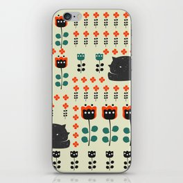 Cats napping between flowers iPhone Skin