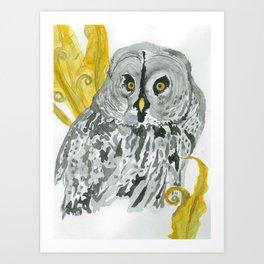 Twilight Guardian Harry Potter Owl Art Print