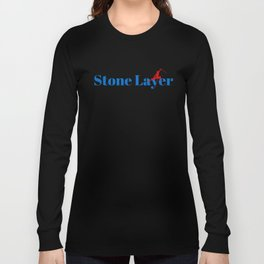 Stone Layer Ninja in Action Long Sleeve T-shirt